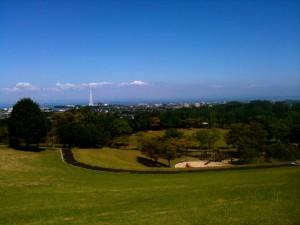 天地山公園から見下ろす風景